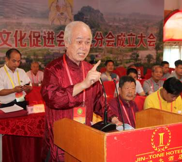 马来西亚林氏宗亲总会总会长,拿督林家仪博士在广西比干文化促进会